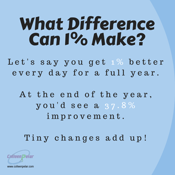 1% better every day = 37.8% better in a year